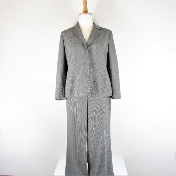 8f4d9efa12c44 Jones New York Plus Size Pant Suit Black White
